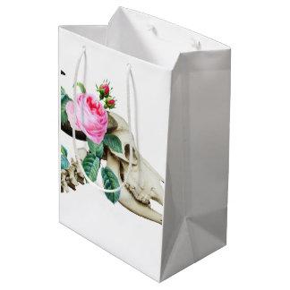 Sugar Skull Cow Rose Medium Gift Bag