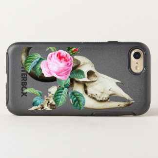 Sugar Skull Cow Rose OtterBox Symmetry iPhone 8/7 Case