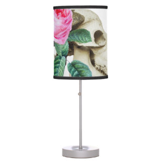 Sugar Skull Cow Rose Table Lamp