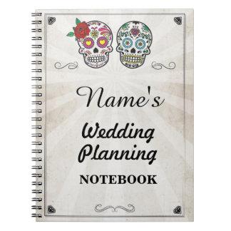 Sugar Skull Cream Notebook Wedding Planning Note