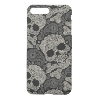 Sugar Skull Crossbones Pattern iPhone 7 Plus Case