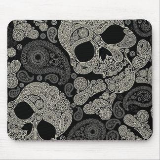 Sugar Skull Crossbones Pattern Mouse Pad
