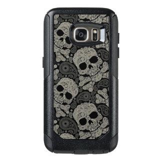 Sugar Skull Crossbones Pattern OtterBox Samsung Galaxy S7 Case