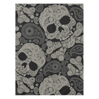 Sugar Skull Crossbones Pattern Tablecloth