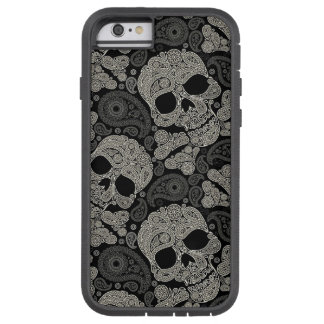 Sugar Skull Crossbones Pattern Tough Xtreme iPhone 6 Case