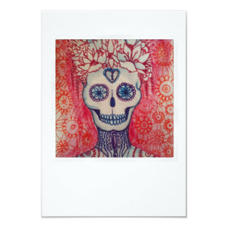sugar skull day of dead tattoo invite card mexican