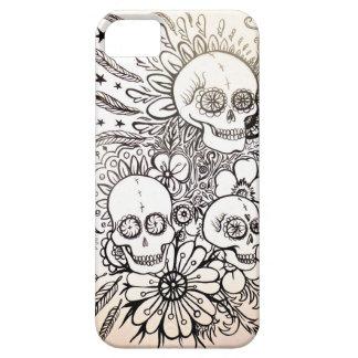 sugar skull day of dead tattoo phone case cove art