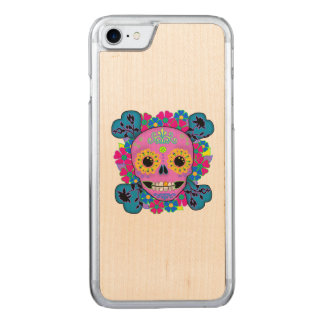 Sugar Skull Day of the Dead Carved iPhone 8/7 Case