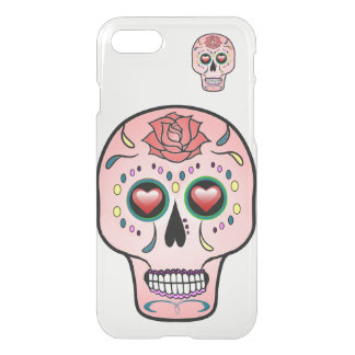 sugar skull  Day of the Dead rose iPhone case