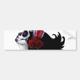 Sugar Skull Design Bumper Sticker