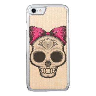 Sugar Skull Design Carved iPhone 8/7 Case