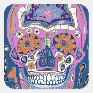 Sugar Skull Design Square Sticker