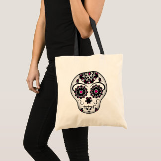 Sugar skull design tote bag