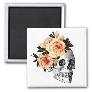 Sugar Skull Dia De Los Muertos Day of the Dead Square Magnet
