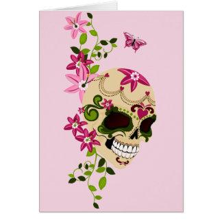 Sugar Skull [Día de Muertos] Card