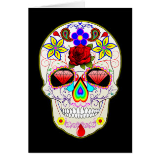 Sugar Skull Diamond Eyes Greeting Card