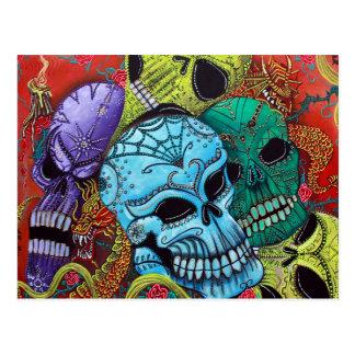 Sugar Skull Dragon Postcards