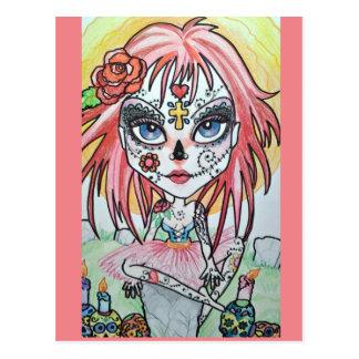 Sugar Skull Fantasy Art Postcard