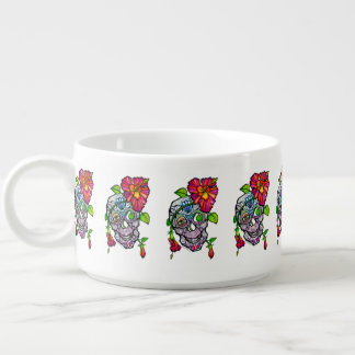 SUGAR SKULL & FLOWER BOWL