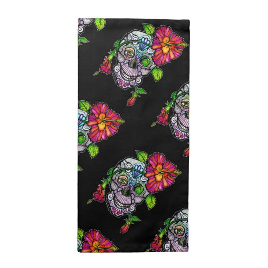 SUGAR SKULL & FLOWER CLOTH NAPKIN