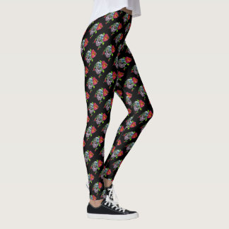 SUGAR SKULL & FLOWER LEGGINGS
