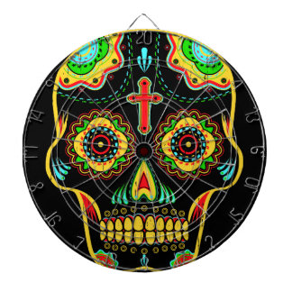 Sugar skull full color dartboard