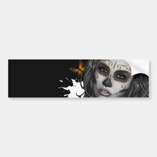 Sugar Skull Girl Bumper Sticker