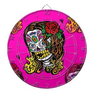 sugar skull girl dartboard