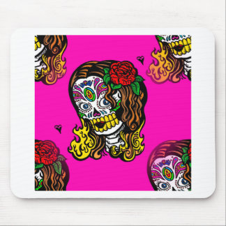 sugar skull girl mouse pad