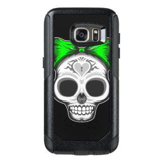 Sugar Skull (green bow) OtterBox Samsung Galaxy S7 Case