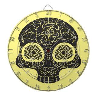 Sugar Skull Heart and Flower Dart Boards