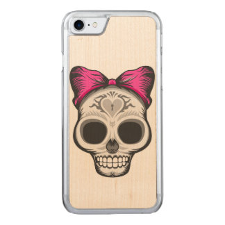 Sugar Skull Illustration Carved iPhone 8/7 Case