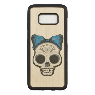Sugar Skull Illustration Carved Samsung Galaxy S8 Case