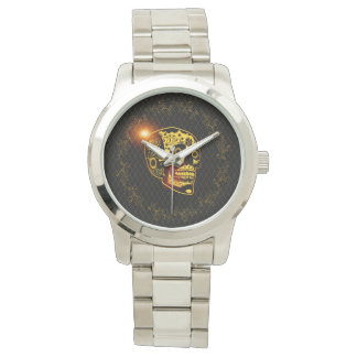 Sugar skull in gold and black watch