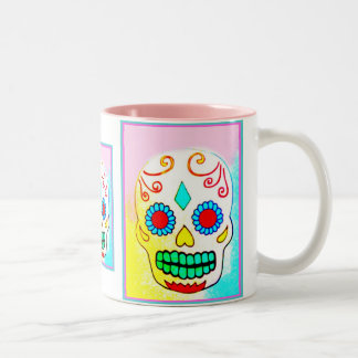 SUGAR SKULL IN PASTELS Two-Tone COFFEE MUG