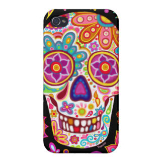 Sugar-Skull iPhone 4 Case by Case Savvy