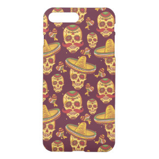 Sugar Skull iPhone 7 Plus Clearly™ Deflector Case