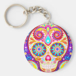 Sugar Skull Keychain Day of the Dead Art