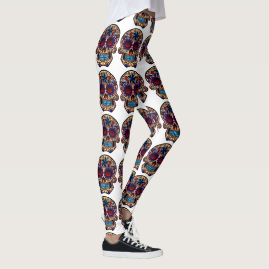 Sugar Skull Leggings Day Of The Dead Yoga Pants