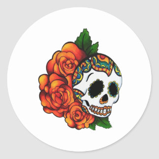 SUGAR SKULL LOVE CLASSIC ROUND STICKER