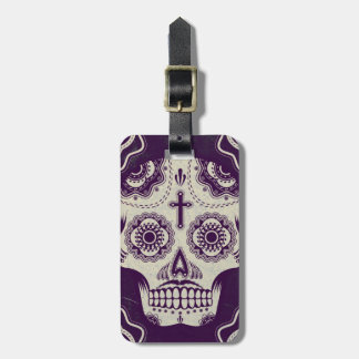 Sugar skull luggage tag