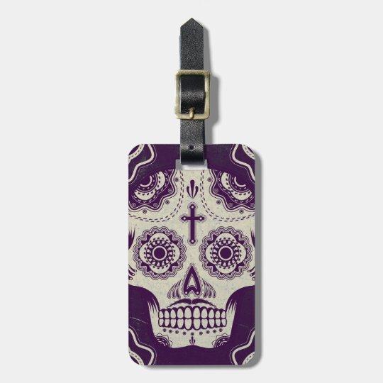 Sugar skull luggage tag