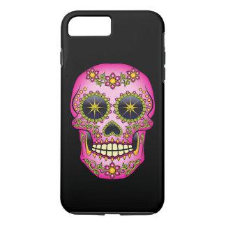 Sugar Skull Magenta Floral iPhone 7 Plus Case