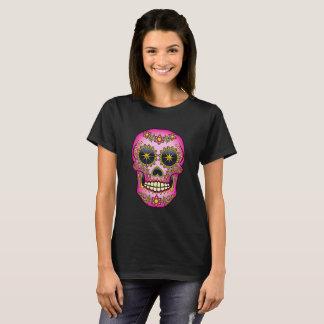 Sugar Skull Magenta Floral T-Shirt