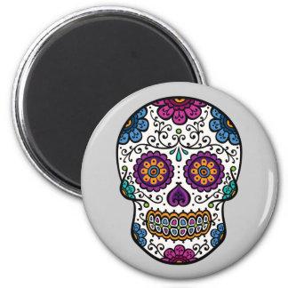 Sugar Skull 2 Inch Round Magnet
