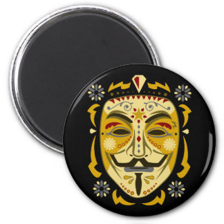 Sugar Skull Mask 2 Inch Round Magnet