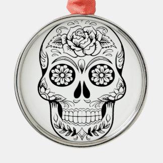 Sugar Skull Metal Ornament