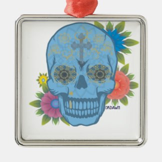 SUGAR SKULL METAL ORNAMENT