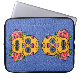 Sugar Skull Neoprene Laptop Sleeve 15""