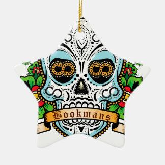 Sugar Skull Original Ceramic Star Ornament